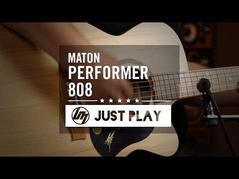 Maton Performer 808 Slimline Acoustic Electric Guitar w/Case - Natural Satin