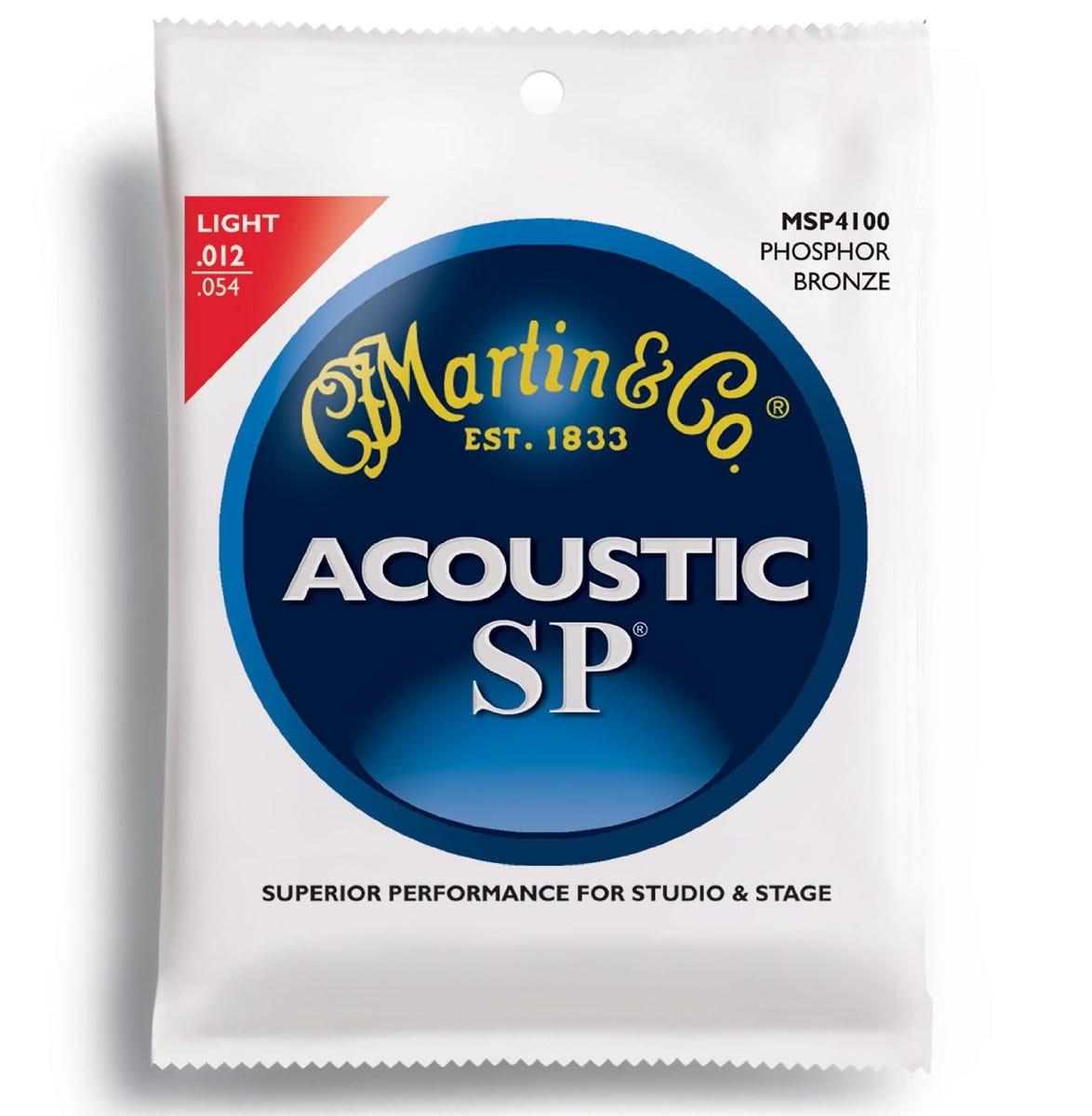 Martin Phosphor Bronze Acoustic SP Guitar Strings Set - Light 12-54
