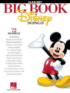 BIG BOOK OF DISNEY SONGS for CLARINET /  (HAL LEONARD)