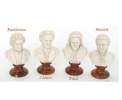 BUST 15CM-CRUSH MARBLE BEETHOVEN (PATINA)