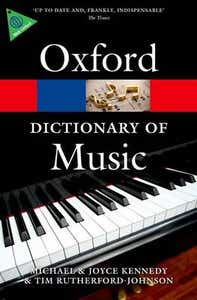 OXFORD DICTIONARY OF MUSIC 6TH ED PAPERBACK / KENNEDY RUTHERFORD-JOHNSON (OXFORD)