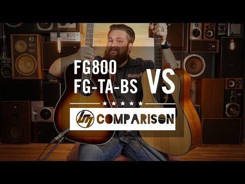 Yamaha FG-TA TransAcoustic Dreadnaught Guitar - Black