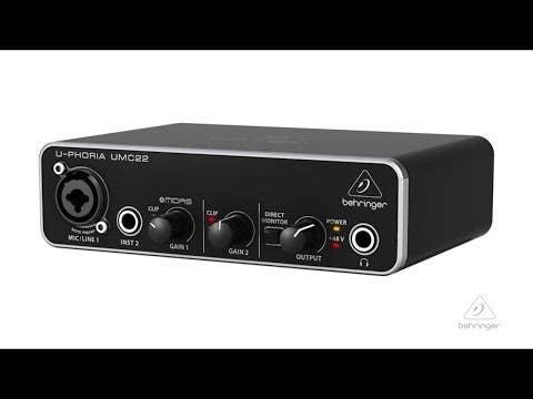 Behringer U-Phoria UMC22 USB Audio Interface