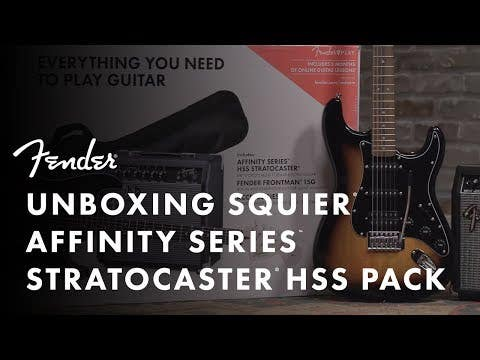 Squier Affinity Strat Pack HSS - Brown Sunburst