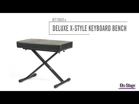 OnStage Adjustable Keyboard Bench/Stool (OSKT7800+)