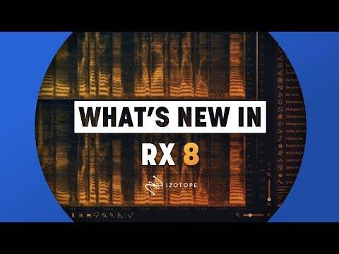 Izotope RX 8 Advanced Software (Plugin Download)
