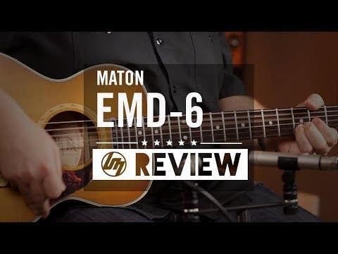 Maton EMD-6 Diesel Acoustic Electric Guitar w/Case - Vintage Amber