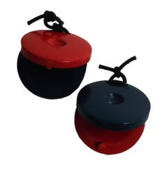 CPK Wooden Castanets - Red/Blue