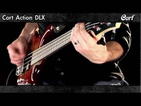 Cort Action PJ Bass Guitar - Walnut