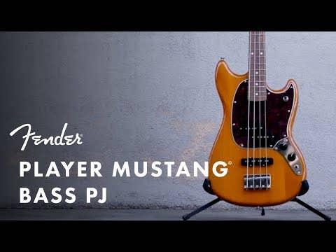 Fender Player Mustang Bass PJ - Aged Natural PF