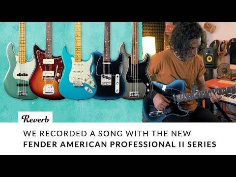 Fender American Professional II Precision Bass w/Case - Miami Blue MN