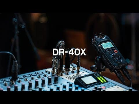Tascam DR-40X Four Track Digital Audio Recorder and USB Audio Interface