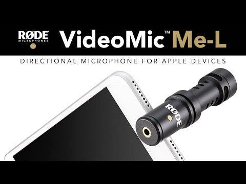 Rode VideoMic Me-L Directional microphone for iPhone/iPad (Lightning Connection)
