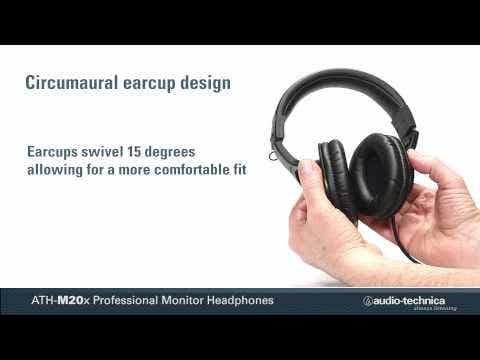 Audio Technica M20X Studio Headphones - Black