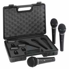 Behringer XM1800S dynamic microphones, PK3 in case