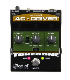 Radial AC-Driver Acoustic Preamp/DI Pedal