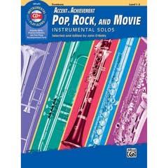 Accent On Achievement Pop Rock & Movie Solos Trombone - Book & CD (Alfred)