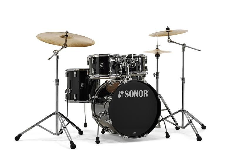Sonor Studio AQ1 5pc Drum Kit w/Hardware - Piano Black