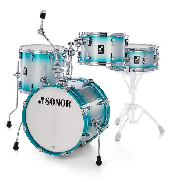Sonor Bop AQ2 All-Maple Drum Shell Pack - Aqua Silver Burst
