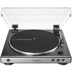 Audio Technica LP60X Fully Automatic Belt-Drive Stereo Turntable - Gun Metal