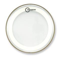 """Aquarian MRS2-12 12"""" Drum Head - Clear w/Studio-X Ring"""