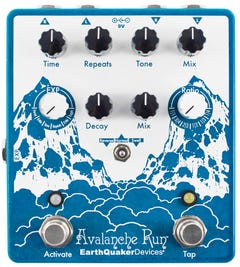 EarthQuaker Devices Avalanche Run v2 Stereo Reverb & Delay Pedal w/Tap Tempo