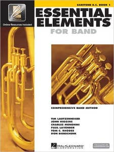 essential elements for band book 1 for baritone bass clef (HAL LEONARD)
