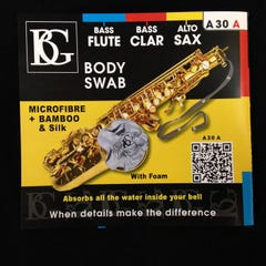 BG Franck Bichon Alto Sax / Bass Clarinet/ Bass Flute Cleaning Swab (BGA30A)