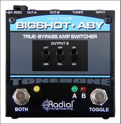 Radial bigshot ABY pedal