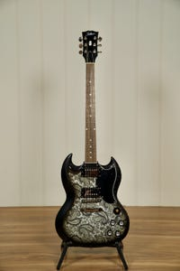 Tokai 'Vintage Series' USG-BP SG-Style Electric Guitar - Black Paisley