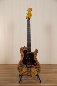 Knaggs Choptank 'Trem' HSS Guitar w/Case - Spalted Maple w/Stone Inlay
