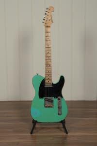 Luxxtone Guitars Choppa T w/Case - Aged Seafoam Green