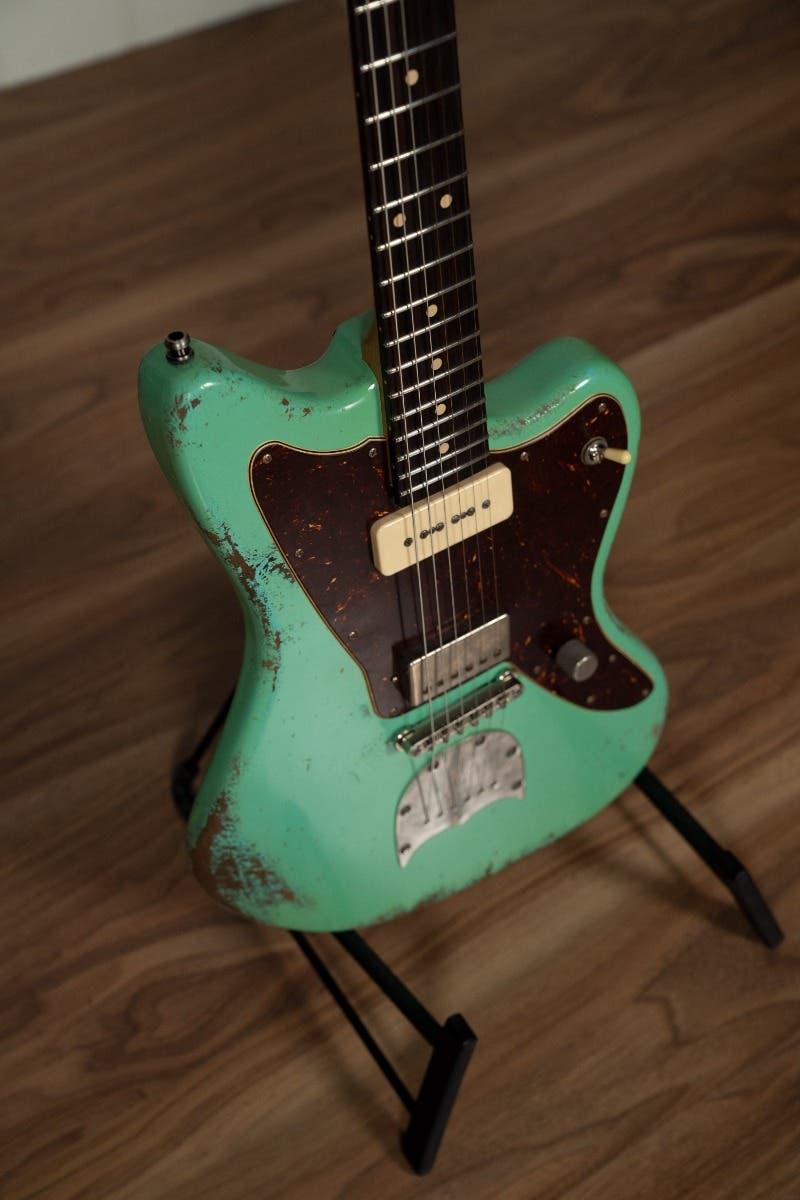 Luxxtone Guitars Choppa J w/Case - Heavy Aged Seafoam Green