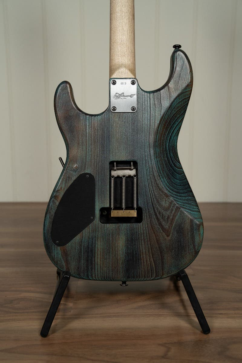 Luxxtone Guitars El Machete FR w/Case - Burnt Turquoise Salvage