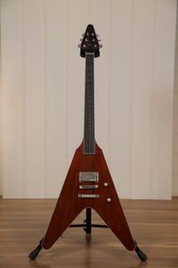 "Vance Custom ""Clonakilla"" Flying V Guitar w/Case - Cherry/Brown/Bordeaux"