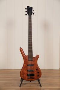 Warwick Teambuilt Corvette Bubinga 5-String Bass w/Gigbag - Natural Transparent Satin