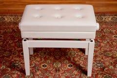 Beale BPB220 Adjustable Piano Bench w/Storage - Polished white