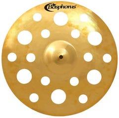 """Bosphorus Gold Series 17"""" Holed Crash Cymbal with 18 Holes"""