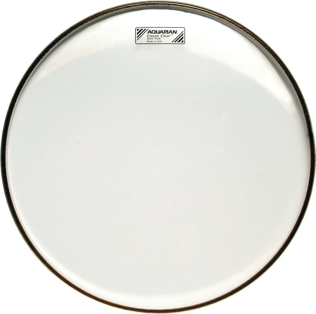 Aquarian 14 Inch Snare Drum Head Clear Snare Side Ccsn14 Classic Clear