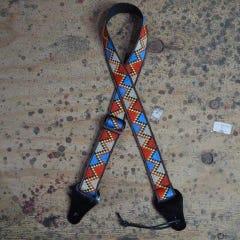 Colonial Leather Jacquard/Poly Ukulele Strap