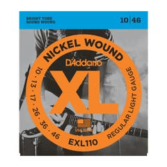 D'Addario Regular Light Electric Guitar String Set 10-46 (EXL110)