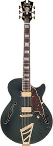 D'Angelico Deluxe SS Hollowbody Electric Guitar w/Case - Matte Midnight (Stairstep Tailpiece)