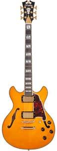 D'Angelico Excel Mini DC Semi Hollow Guitar - Vintage Natural