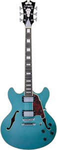D'Angelico Premier DC Semi-Hollow Guitar w/Bag - Ocean Turquoise (Stopbar Tailpiece)