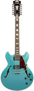 D'Angelico Premier DC 12-String Semi-Hollow Guitar w/Gigbag - Ocean Turquoise