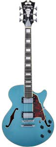 D'Angelico Premier SS Semi-Hollow Guitar w/Bag - Ocean Turquoise (Stopbar Tailpiece)