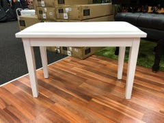 Beale BPB110WH Duet Piano Bench w/Storage - Polished White