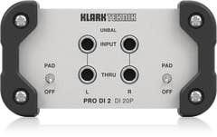 Klark Teknik DI20P Passive Stereo DI Box w/Midas Transformer