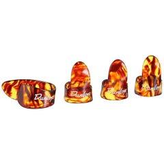 Dunlop Shell Finger&Thumb Player Pack - Large (1xThumb + 3xFinger-Pick)