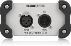 Klark Teknik DS20 Passive 1-In / 2-Out Signal Splitter w/Midas Transformer